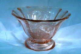 Paden City 1930 Lela Bird CheriGlo Pink Oval Footed Console Bowl - $110.87