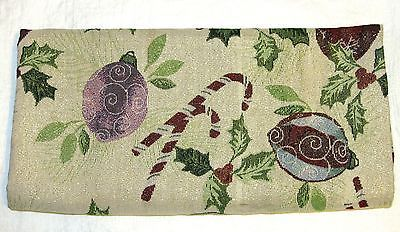 Windham Weavers Home Collection Holiday Poinsettia Tablecloth  Multi-Color