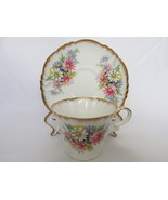 Vintage Royal Standard English Bone China Cup & Saucer - Anemones Patter... - $21.99