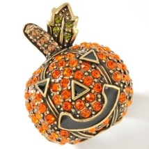 "Heidi Daus ""One Smashin' Pumpkin"" Crystal Ring Size 11 - $79.95"