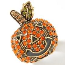 "Heidi Daus ""One Smashin' Pumpkin"" Crystal Ring Size 12 - $79.95"