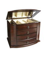 Grace Wood Finish Necklace Jewelry Box Armoire ... - $159.50