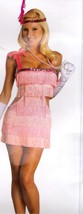 PINK FLAPPER WITH HEADPIECE SIZE LARGE 10-14  - $45.00