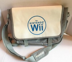 NINTENDO Wii Carrying Storage Case Travel Bag Backpack White Gray DreamGear - $14.01