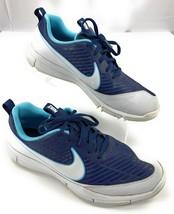 Nike Golf Explorer 2 SpikeLess Shoes Navy Blue White 849957-400 Men's 10.5 - $31.67