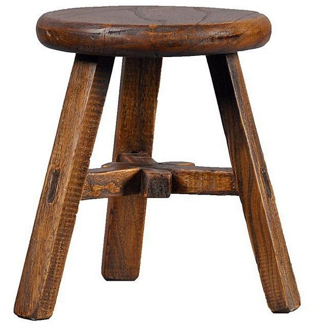 Vintage Wood Stool Antique Bar Seat Foot Bench Chair Furniture Step Dining Room