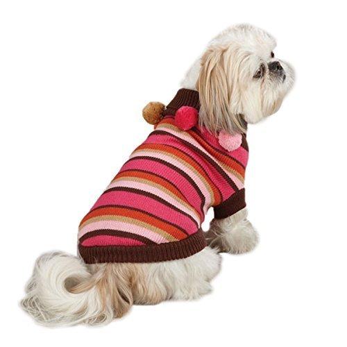 SIMPLY DOG Red Striped Bone Sweater Puppy//Dog xxsmall