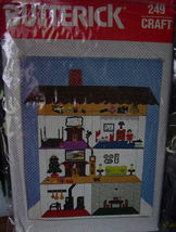 Pattern 249 Doll House Wall Hanging Velcro Fastened Doll - $12.00