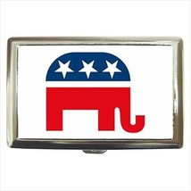 Gop Party Elephant Logo Cigarette Money Case - $12.56