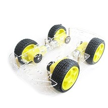 EMO 4 wheel 2 layer Robot Smart Car Chassis Kits with Speed Encoder for ... - $18.23