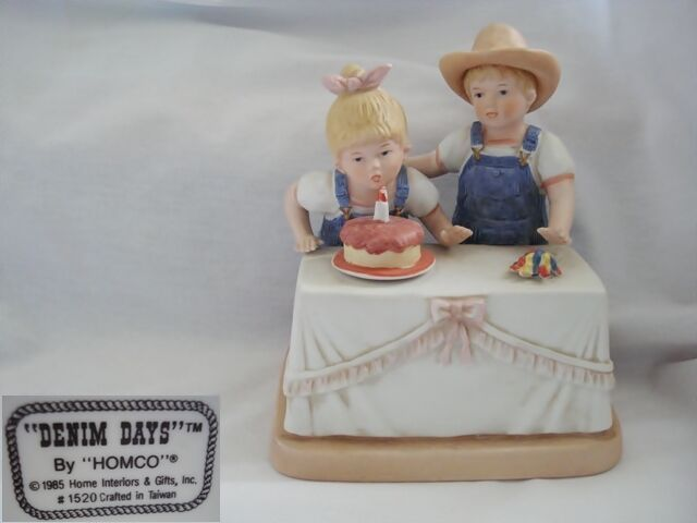 Denim Days Happy Birthday Figurine