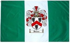 Bourn Coat of Arms Flag / Family Crest Flag - $29.99