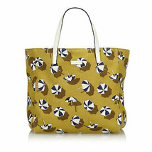 Pre-Loved Gucci Yellow Canvas Fabric Printed Tote Bag Italy - $419.82