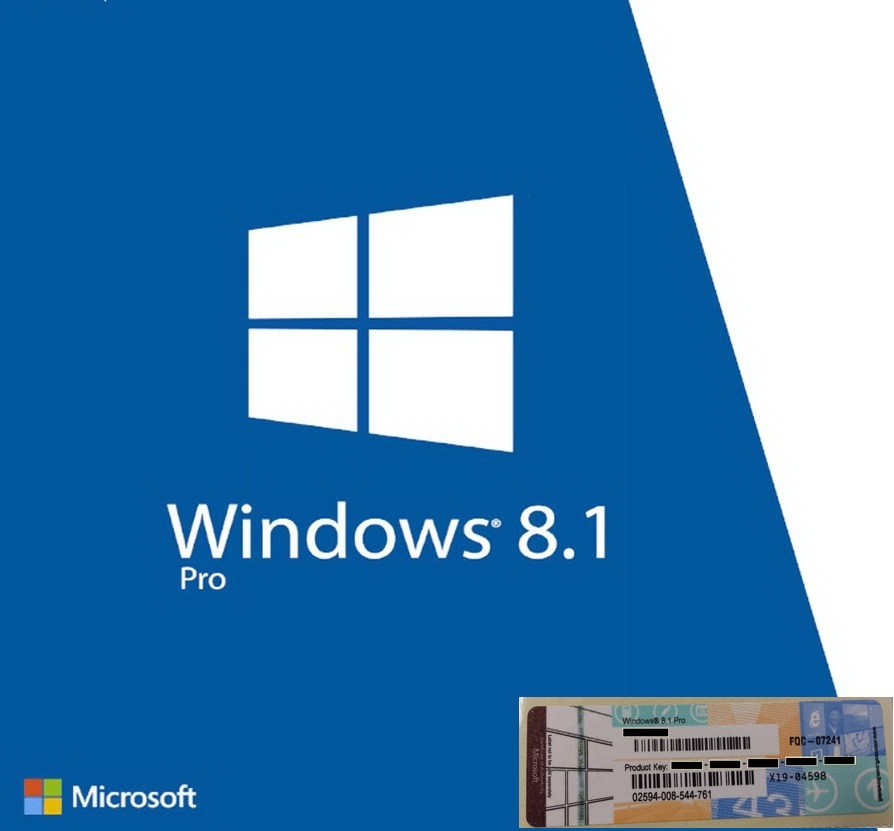 Windows 8 1 pro oem product key coa label full version for Window 8 1 pro product key
