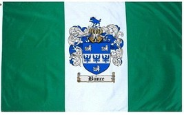 Bunce Coat of Arms Flag / Family Crest Flag - $29.99