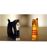 2 Cat Napkin Rings - or use as picture frames! - $3.00