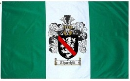Churchill Coat of Arms Flag / Family Crest Flag - $29.99