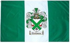 Clarkesone Coat of Arms Flag / Family Crest Flag - $29.99