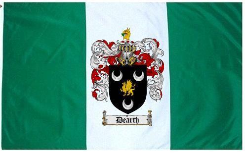 Dearth Coat of Arms Flag / Family Crest Flag - $29.99
