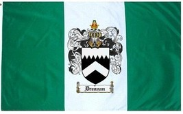 Drennan Coat of Arms Flag / Family Crest Flag - $29.99