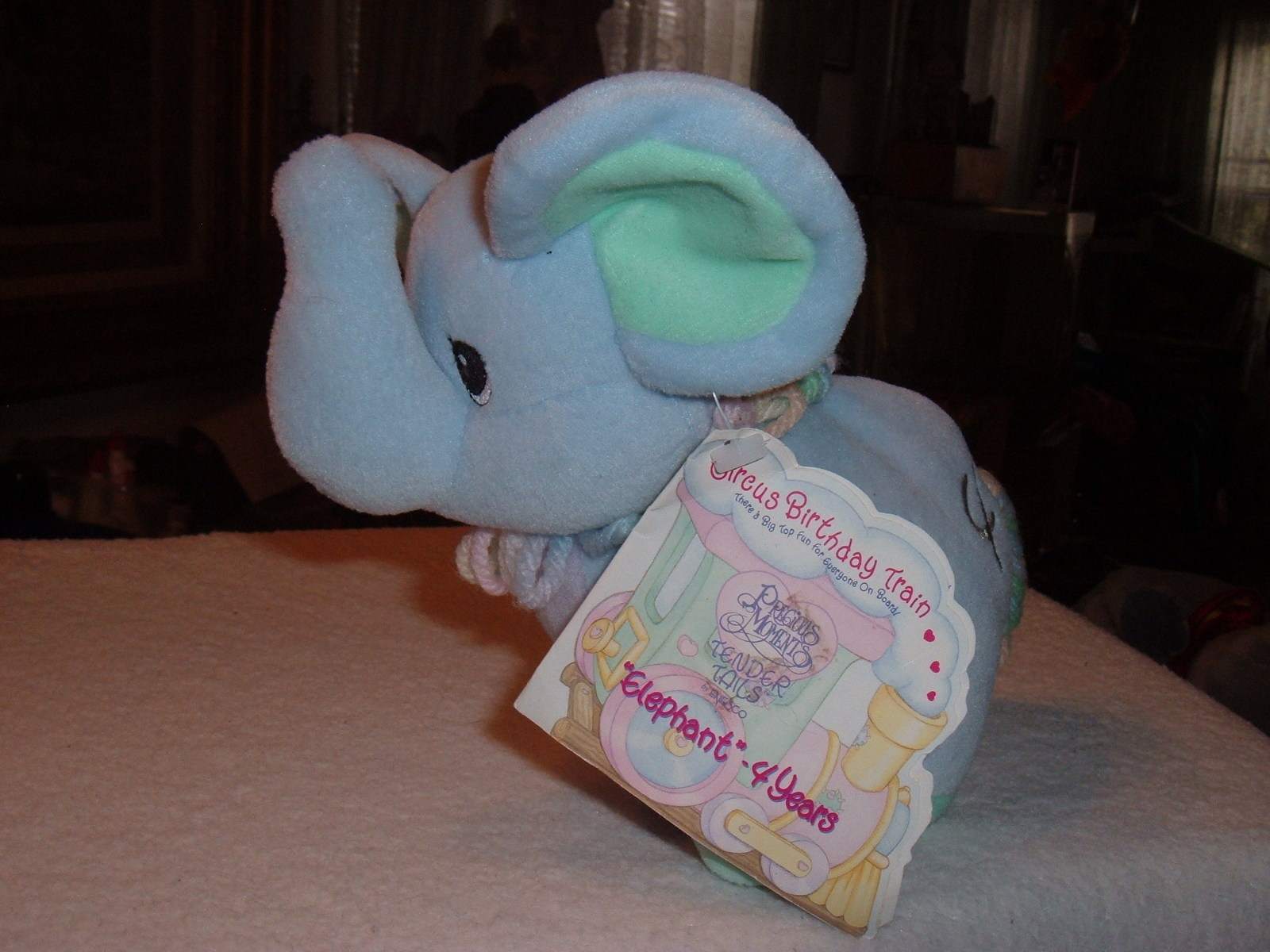 Precious Moments Tender Tails Age 4 Elephant Plush Stuffed Toy Doll Animal w/Tag image 2