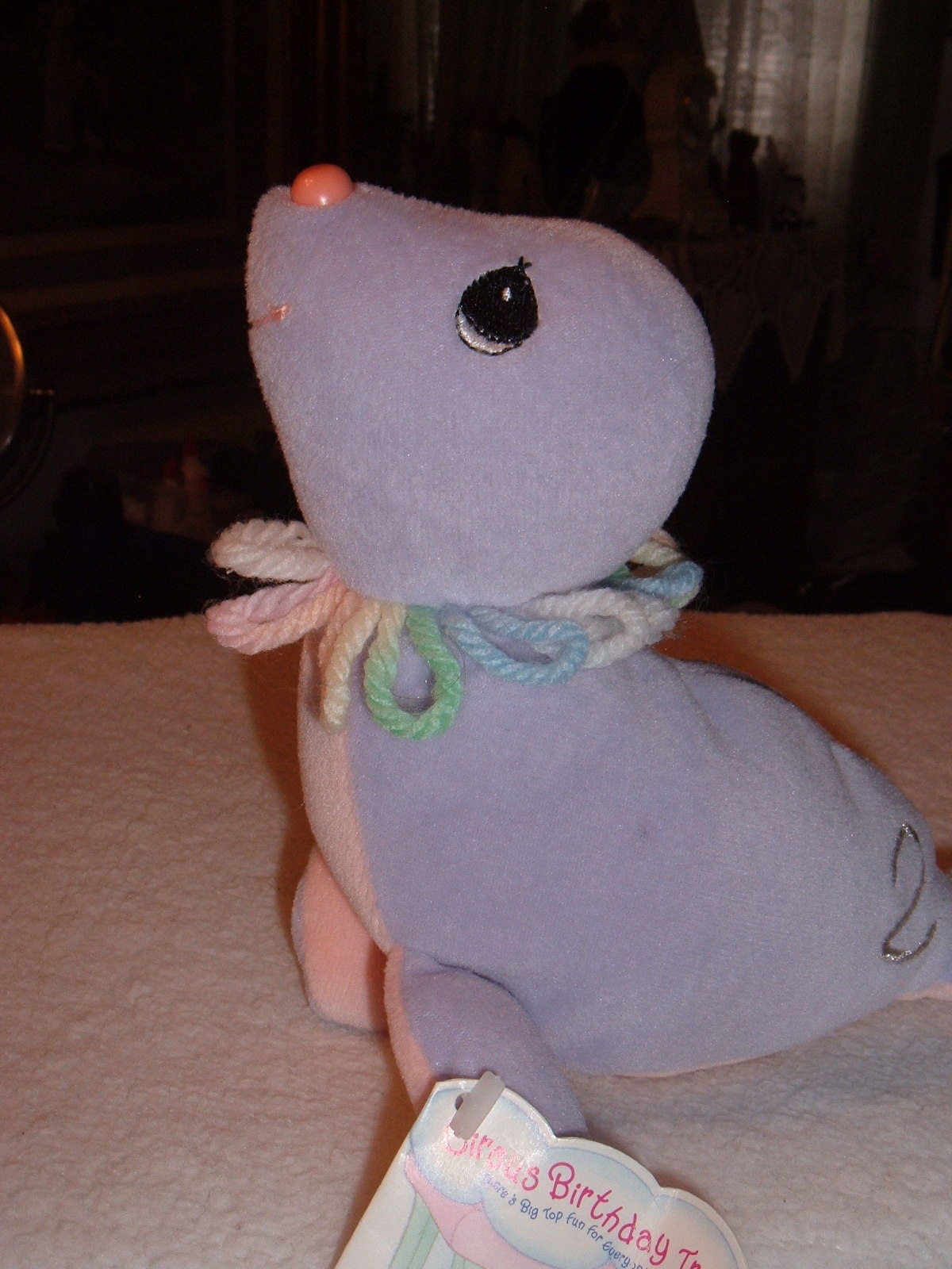Precious Moments Tender Tails Age 2 Seal Plush Stuffed Toy Character Animal &Tag