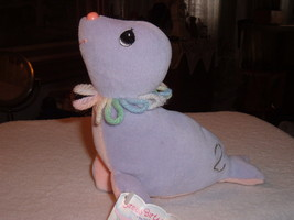 Precious Moments Tender Tails Age 2 Seal Plush Stuffed Toy Character Animal &Tag image 2