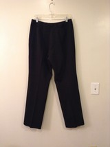 Larry Levine Ladies Stretch Black Dress Pants, size 12, Polyester Spandex blend image 2