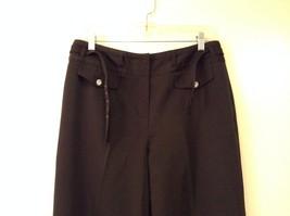 Larry Levine Ladies Stretch Black Dress Pants, size 12, Polyester Spandex blend image 3
