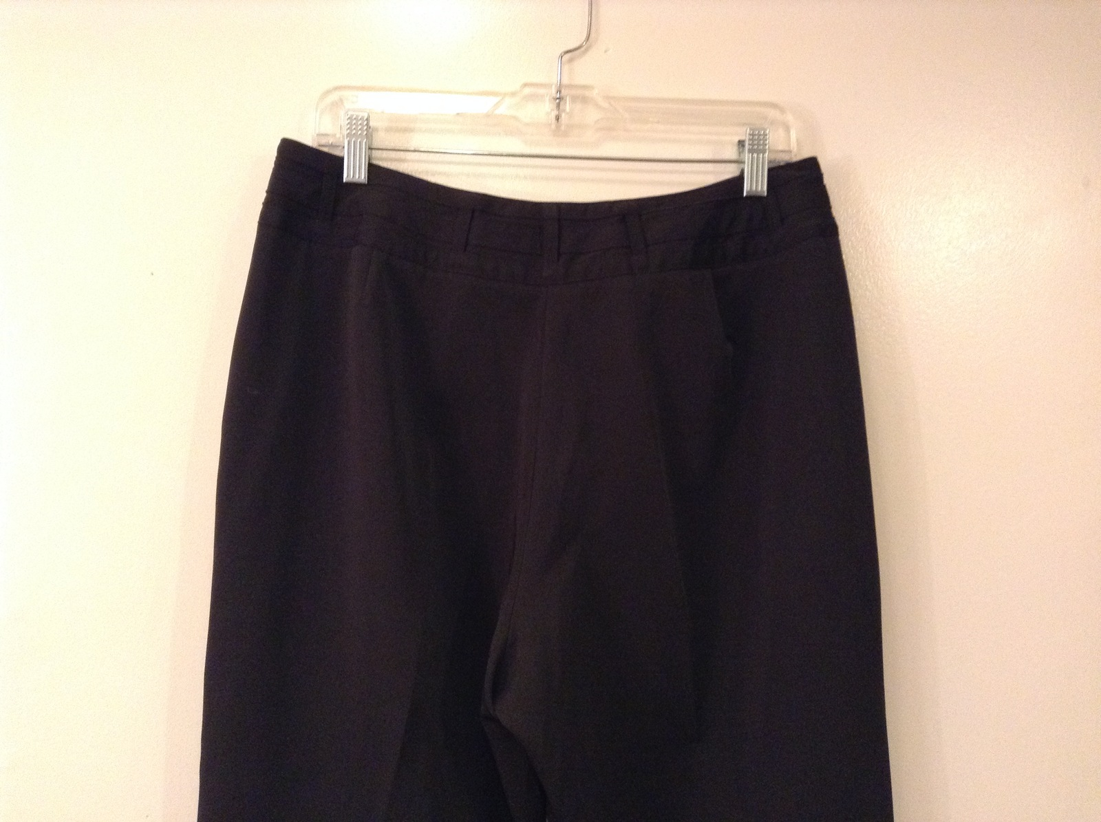Larry Levine Ladies Stretch Black Dress Pants, size 12, Polyester Spandex blend