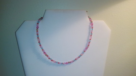 Handmade Multi Color Crystal Beaded Necklace - $4.50