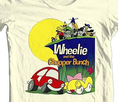 WHEELIE & CHOPPER BUNCH T shirt retro 70's 80's Saturday Morning Cartoons tee