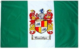 Guenther Coat of Arms Flag / Family Crest Flag - $29.99
