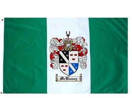 Mckamey Coat of Arms Flag / Family Crest Flag - $29.99