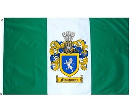 Montminy Coat of Arms Flag / Family Crest Flag - $29.99