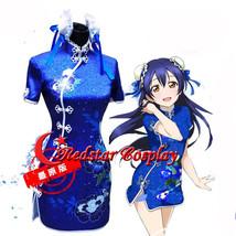 Love live Sonoda Umi Girl Sexy Blue Dress cosplay costumes - $49.00