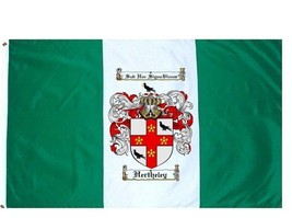 Hertheley Coat of Arms Flag / Family Crest Flag - $29.99