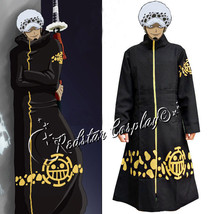 Anime One Piece Trafalgar Law Coat 2 years later Cosplay Costume Cloak New Gift - $49.00