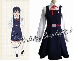 Anime Tamako Market Cosplay Costume School Uniform-Custom made any Size - $55.00
