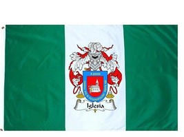 Iglesia Coat of Arms Flag / Family Crest Flag - $29.99