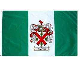 Keating Coat of Arms Flag / Family Crest Flag - $29.99