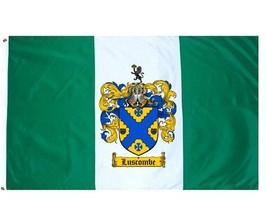 Luscombe Coat of Arms Flag / Family Crest Flag - $29.99