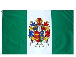 Mirecki Coat of Arms Flag / Family Crest Flag - $29.99