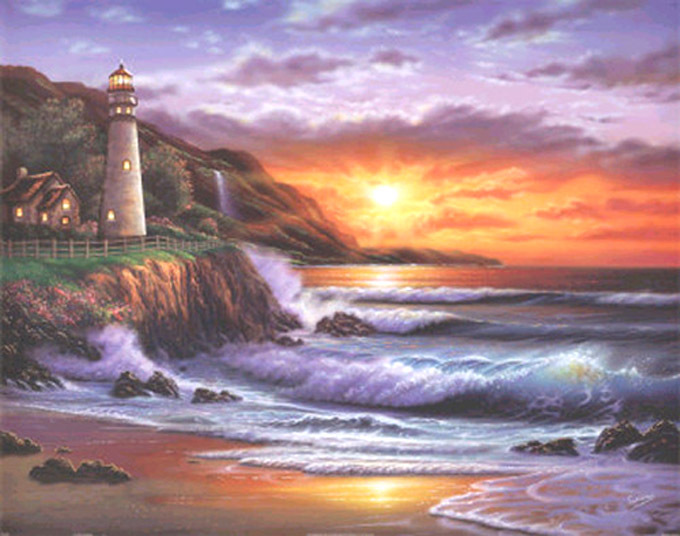 Primary image for Lighthouse Sunset Cross Stitch Pattern***LOOK***