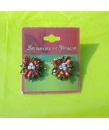 Seasons of Peace Pointsettia Earrings - $6.00