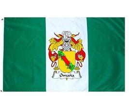 Omana Coat of Arms Flag / Family Crest Flag - $29.99