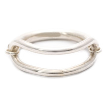 Solid .925 Sterling Silver Unisex Fancy Ring In 18k White Platinum Finishing - £35.06 GBP