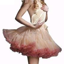 Fluffy Frill Ribbon Women Mini Tutu Skirts - $26.98