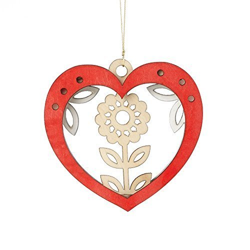 Enesco Flourish Gift Woodlands Heart Ornament, 3-Inch [Misc.]