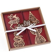 Enesco Flourish Boxed Ornaments, 0.1-Inch, Set of 4 [Misc.]